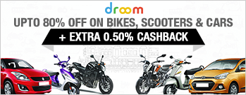 Upto 80% OFF on Bikes, Scooters & Cars