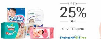 Upto 25% OFF on Diapers